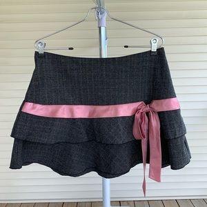 90's Clueless Pink/Gray Mini Skirt